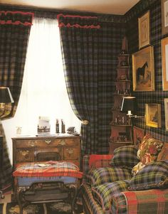 Tartan love. Is this a man cave?  Time for tea with your honey.