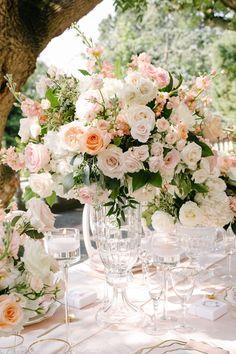 Beautiful outdoor wedding at Graydon Hall Manor garden wedding Wedding Flower Arrangements, Floral Centerpieces, Wedding Bouquets, Floral Arrangements, Wedding Flowers, Floral Wedding Decorations, Centrepieces, Wedding Table, Wedding Ceremony