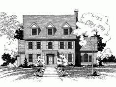 Eplans Georgian House Plan - Five Bedroom Georgian - 3526 Square Feet and 5 Bedrooms(s) from Eplans - House Plan Code HWEPL62135
