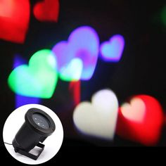 [$18.10] CE Certificated Creative LED Projecting Lamp Romantic Colorful Love Pattern Indoor Outdoor Lawn Yard Garden Decorative Lighting Landscape Lamp, EU Plug