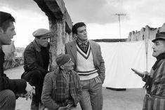 Mastroianni, Salvatori, Pisacane, Gassman, Totò sul set del film 'I soliti ignoti', Napoli 1958, photo Federico Garolla