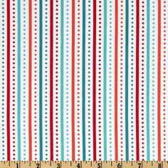 Brrr! Dotted Stripe Ice Teal/Red