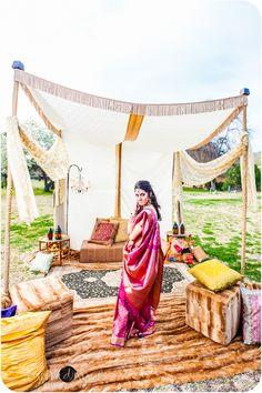 South Asian Indian Wedding Photographer San Diego mandap idea.