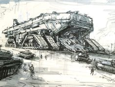 Army Vehicles, Armored Vehicles, Starship Concept, Future Weapons, Attack Helicopter, Sci Fi Weapons, Weapon Concept Art, Futuristic Cars, Illustration