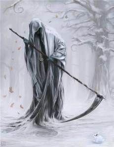 de dood aangezegd krijgen...