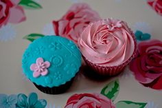 Embossed and Rose Swirl Cupcakes | Flickr - Photo Sharing!