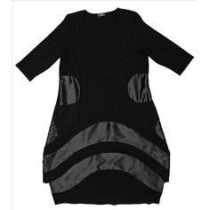 AKH Fashion Lagenlook Kleid mit Satin | 1269satin