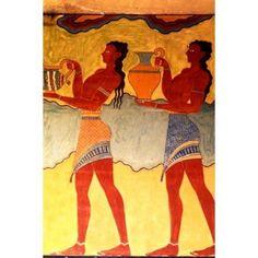 Artwork in Heraklion Knossos Palace Greece Canvas Art - Bill Bachmann DanitaDelimont (24 x 36)