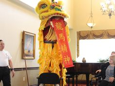 Chinese lion dance-Lion presenting well wishing 龍馬精神 greeting to audience of Chartland Oakville Retirement Residence Chinese Lion Dance, Retirement, Toronto, Presents, Birthday Parties, Gifts, Anniversary Parties, Birthday Celebrations, Birthdays