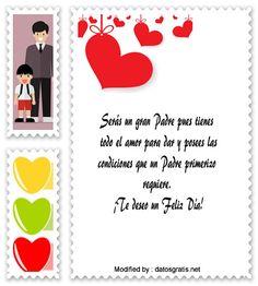 mensajes de texto para el dia del Padre,palabras para el dia del Padre: http://www.datosgratis.net/mensajes-por-el-dia-del-padre-para-papa-primerizo/