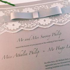 Vintage lace 'Eloise' Wedding Invitation & RSVP by LolaandElvis