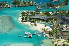 Aerial view of the InterContinental Moorea Resort  Spa, French Polynesia