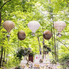 Hot Air Balloon Lanterns (Set of 3)