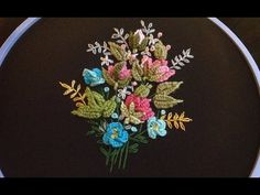 МИНИ ВЫШИВКА  \   MINI EMBROIDERY buttonhole bar stitch - YouTube