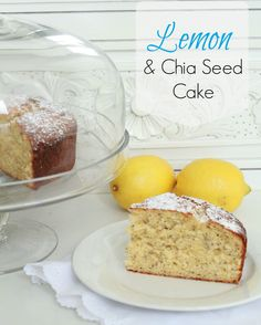 Lemon and Chia Seed Cake Recipe Chai Seed, Seed Cake, Let's Create, Quilt Designs, Cake Recipes, Lemon, Pudding, Cooking Recipes, Cheese