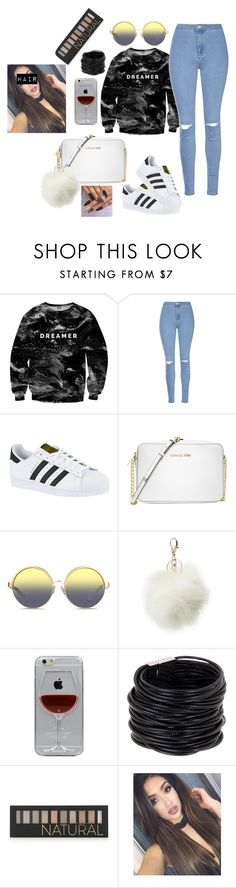 """""""Dreams come true"""" by offically-tri1l on Polyvore featuring Mr. Gugu & Miss Go, Glamorous, adidas, Michael Kors, Matthew Williamson, Charlotte Russe, Reyes, Saachi and Forever 21"""