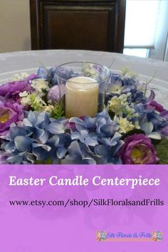 Beautiful spring candle rings on Etsy.
