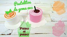 DIY - Cómo hacer pastelitos de goma eva paso a paso - http://www.manualidadeson.com/pastelitos-de-goma-eva.html