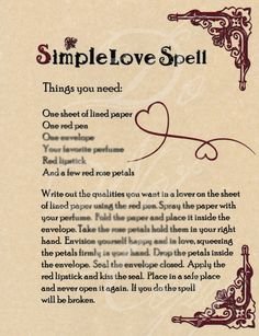 book of shadows pages Wicca Love Spell, Love Spell Chant, Witch Spell Book, Love Spell That Work, Spells That Actually Work, Free Love Spells, Easy Spells, Luck Spells, Powerful Love Spells