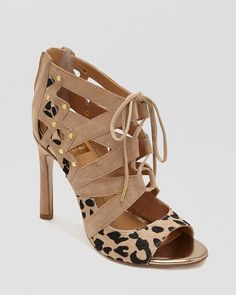 DV Dolce Vita Open Toe Lace Up Sandals - Safia High Heel