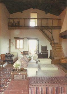 teddy millington-drake's tuscan farmhouse by john stefanidis. photo by christopher simon sykes.