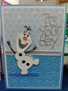 OLAF EMBELLISHMENT - frozen birthday card - Bing Images