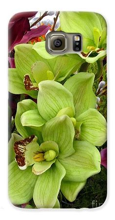 Phone Case - Expressive Botanical Orchids 715 Galaxy S6 Case for Sale by Mas Art Studio.