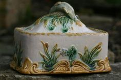 Superb 19th C Majolica Sardine Box with Fish on A Bed of Seaweed to The Lid | eBay