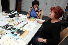 Portraitmalerei in Aquarell | Gute Stimmung bei den Teilnehmern des Portraitkurses (c) FRank Koebsch