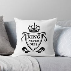 King Never Dies ! - Get yourself a funny custom desing from RIVEofficial Redbubble shop : )) .... tags: #king  #kingneverdies  #royalty #power #coatofarms # funny #humour #giftideas #crown #powerful #kingdom #findyourthing #shirtsonline #trends #riveofficial #favouriteshirts #art #style #design #nature #shopping #insidecollection #redbubble #digitalart #design #fashion #phonecases #access #customproducts #onlineshopping #accessories #shoponline #onlinestore #shoppingonline Funny Humour, Coat Of Arms, Never, Bed Pillows, Custom Design, Royalty, Crown, King, Trends