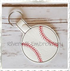 $2.95Baseball or Softball In The Hoop Snap Tab Key Fob Machine Embroidery Design