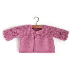 Rebeca de punto de bebé – Pink Lady via @https://es.pinterest.com/martaporcel/