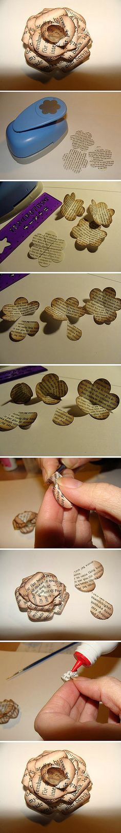 Book craft pinned by Gail, the librarian (so she should know!)