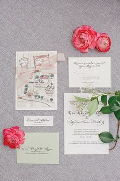 watercolor + calligraphy invitation suite | Harwell Photography #wedding