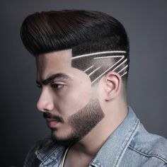 Undercut Design Fade for 2020 .click the link for more cool hairstyle. Trending Hairstyles For Men, Mens Hairstyles With Beard, Cool Hairstyles For Men, Hair And Beard Styles, Hairstyles Haircuts, Haircuts For Men, Short Hair Styles, Amazing Hairstyles, Hair Tattoo Men