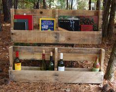 Set of Reclaimed Wood Pallet Shelves/Wine Racks/Book Shelves
