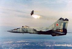 Mig 25 ejection - See ya!!