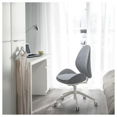 The gently curved lines accentuated by sewn details are kind to your body and pleasant to look at. Upholstery Foam, Upholstery Cleaner, Seat Foam, Ikea Family, Ergonomic Office Chair, Teen Room Decor, Curved Lines, Wood Veneer, Office Home
