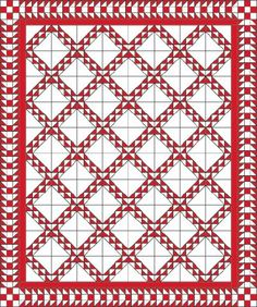 The London Quilt Pattern creates a dramatic design out of diagonal rows of triangles. Download the free quilt pattern for your next quilting project.