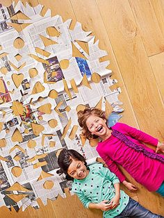 Make an epic paper snowflake using this technique from Side by Side, a book of collaborative crafts for parents and kids by Tsia Carson.