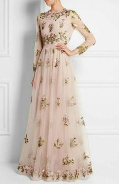 Valentino Embellished Embroidered Tulle Gown Concealed hook and zip fastening at back polyamide; Evening Dresses, Prom Dresses, Formal Dresses, Wedding Dresses, Net Dresses, Hijab Prom Dress, Net Gowns, Dresses Online, Beautiful Gowns