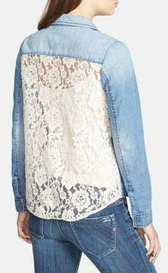 Cute chambray with lace back.
