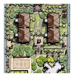 pocket garden, accent pavilion, landscape stairs, accent light splints