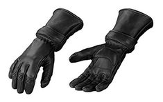 "Ride in style and stay warm with these fleece lined ultra soft deerskin gauntlet gloves. Size medium.   	 		 			 				 					Famous Words of Inspiration...""I don't generally feel anything until noon, then it's time for my nap.""					 				 				 					Oliver Wendell Holmes 						—... more details available at https://perfect-gifts.bestselleroutlets.com/gifts-for-holidays/automotive-parts-accessories/product-review-for-motorcycle-biker-black-deer-skin-leather-winter-"