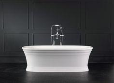 New Worcester bath with Staffordshire 12 + 14 taps in Polished Chrome #Bathrub #Bathroom #InteriorDesign