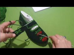 iki şiş çilek Patik Modeli - YouTube