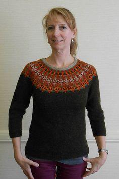 Very nice!!!! Helsinki Yoke Sweater, as knit by Feralknitter...