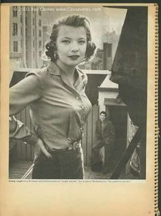 """Caption reads: Acting couple Gena Rowlands and John Cassavetes are """"snugly married,"""" live in uptown Manhattan in a """"tiny penthouse paradise. Marriage Relationship, Happy Marriage, The Most Beautiful Girl, Young And Beautiful, Gena Rowlands, John Cassavetes, Dramatic Classic, Old Photography, Lasting Love"""
