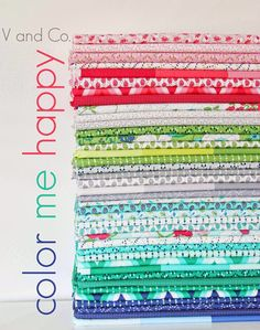 V and Co.: V and Co: properly introducing Color Me Happy for Moda Fabrics - ADORE this line of fabrics.