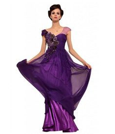 Long Formal Prom Dresses | Princess long purple formal prom pageant gowns 2013 -2014